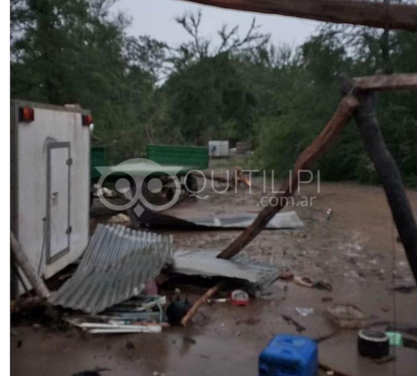 Legua 19. Temporal de lluvia y viento causó serios destrozos 7