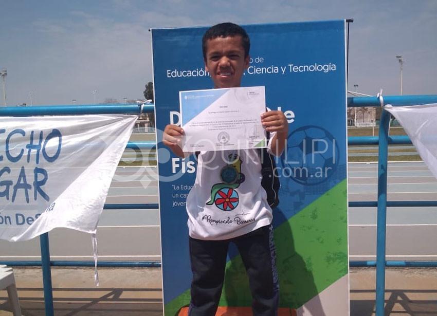 Braian López representará a la EET 18 en Mar del Plata 6