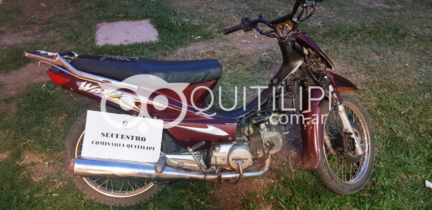 Recuperan dos motos y varios elementos 3