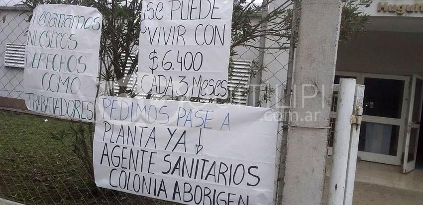 Colonia Aborigen. 17 agentes sanitarios esperan promesas incumplidas 9