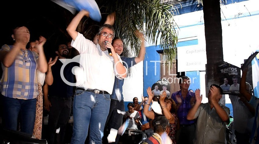 A puro festejo por el triunfo de Alberto y Cristina en Quitilipi 5