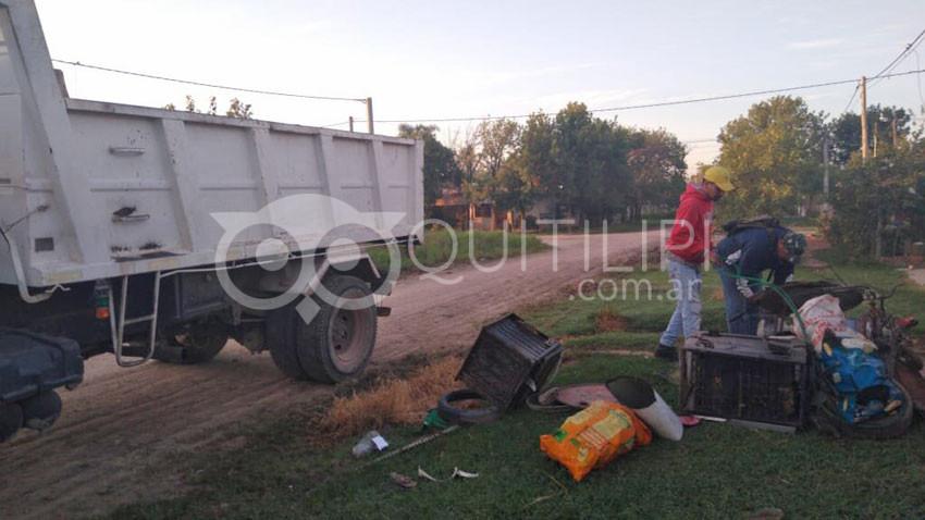 Intensos trabajos de saneamiento y descacharrado en los barrios 16