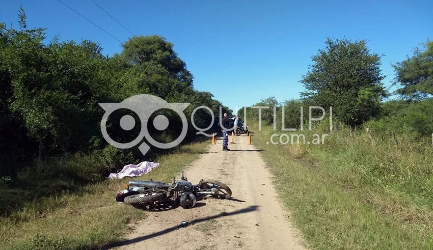 Colonia Aborigen. Motociclista murió tras colisionar, probablemente un animal 5