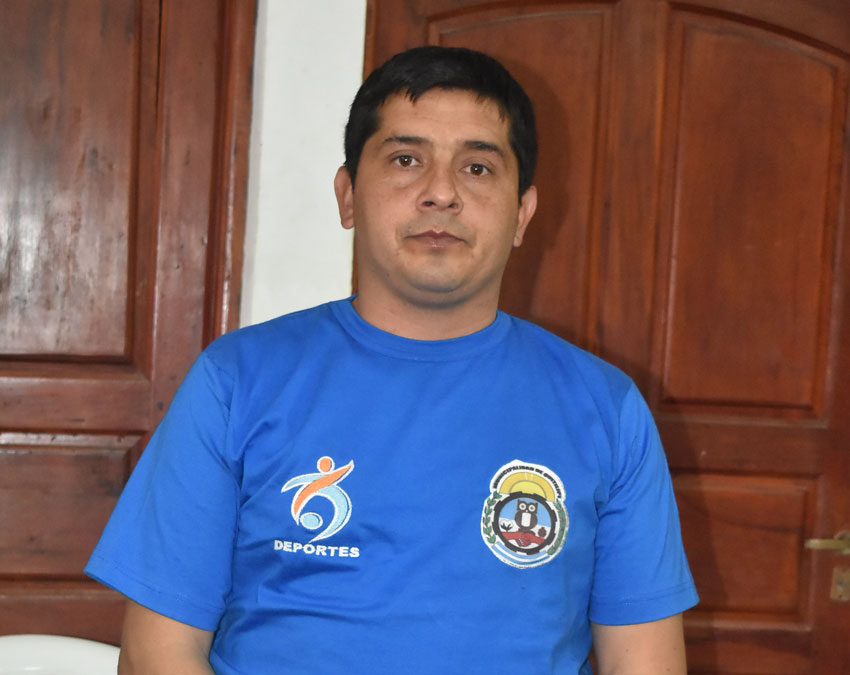 La Municipalidad presentó el encargado del área deportes y su equipo 6