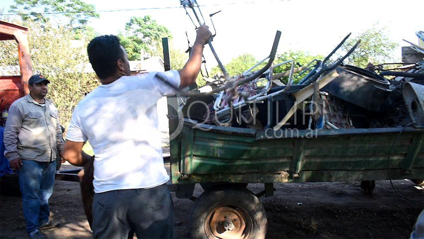Operativo descacharrado en el Barrio 40 viviendas 9